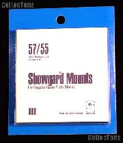 Showgard Pre-Cut Black Stamp Mounts Size 57/55