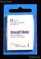 Showgard Pre-Cut Black Stamp Mounts Size N41/27