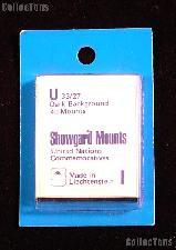 Showgard Pre-Cut Black Stamp Mounts Size U33/27