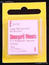 Showgard Pre-Cut Clear Stamp Mounts Size E22/25