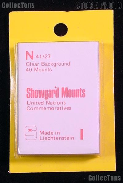 Showgard Pre-Cut Clear Stamp Mounts Size N41/27