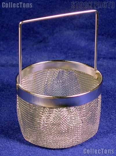 Metal Dipping Basket for Coin Cleaning