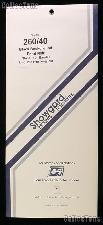 Showgard Pre-Cut Black Stamp Mounts Size 260/40