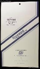 Showgard Pre-Cut Black Stamp Mounts Size 187/144