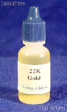 Gold Test Acids - Testing Solution for 22K Gold