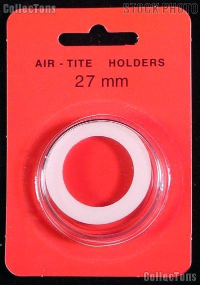 "Air-Tite Coin Capsule ""H"" White Ring Coin Holder for 27mm Coins"