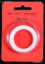"Air-Tite Coin Capsule ""I"" White Ring Coin Holder for 33mm Coins"