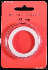 "Air-Tite Coin Capsule ""I"" White Ring Coin Holder for 35mm Coins"