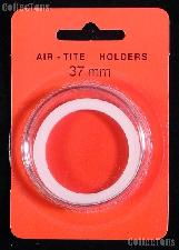 "Air-Tite Coin Capsule ""I"" White Ring Coin Holder for 37mm Coins"