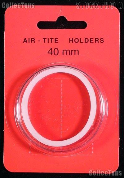 "Air-Tite Coin Capsule ""I"" White Ring Coin Holder for 40mm Coins SILVER EAGLES"