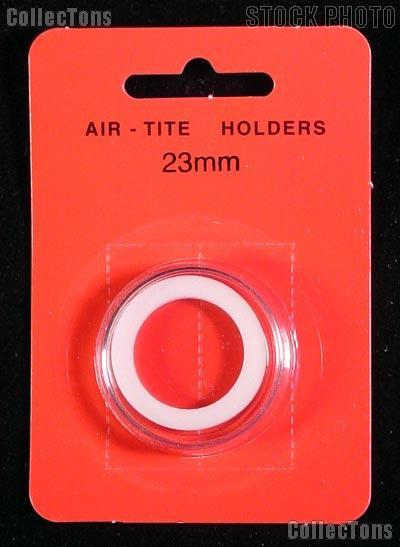"""Air-Tite Coin Capsule """"T"""" White Ring Coin Holder for 23mm Coins"""