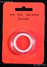 "Air-Tite Coin Capsule ""T"" White Ring Coin Holder for 25mm Coins"