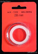 "Air-Tite Coin Capsule ""H"" White Ring Coin Holder for 28mm Coins"