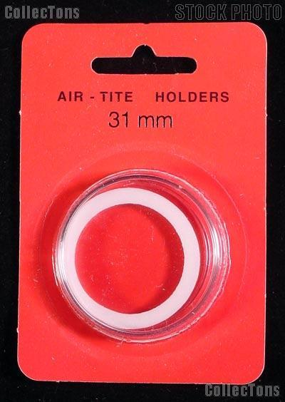 "Air-Tite Coin Capsule ""H"" White Ring Coin Holder for 31mm Coins"
