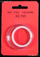 "Air-Tite Coin Capsule ""H"" White Ring Coin Holder for 32mm Coins"