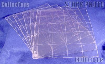 Lighthouse GRANDE Pages for 20 2x2 Coin Holders M20K Pack of 5