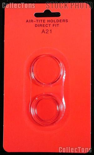 """Air-Tite Coin Capsule Direct Fit """"A21"""" Coin Holder for NICKELS"""