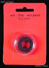 "Air-Tite Coin Capsule ""A"" Black Ring Coin Holder for 13mm Coins"