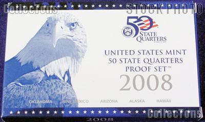 2008 U.S. Mint QUARTER Proof Set OGP Replacement Box and COA