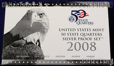 2008 SILVER QUARTER PROOF SET OGP Replacement Box and COA