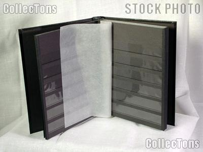 Black Photo Album With Black Pages Stamp Stockbook 32-black Page