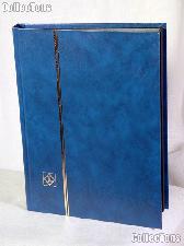 Stamp Stockbook 32-Black Page Stamp Album Lighthouse LS2/16 Blue