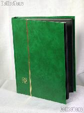 Stamp Stockbook 32-Black Page Stamp Album Lighthouse LS2/16 Green
