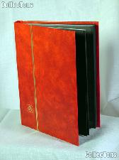Stamp Stockbook 32-Black Page Stamp Album Lighthouse LS2/16 Red