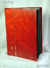 Stamp Stockbook 64-Black Page Stamp Album Lighthouse LS4/32 Red