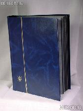 Stamp Stockbook 64-Black Page Stamp Album Lighthouse LS4/32 Blue