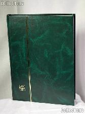 Stamp Stockbook 32-Black Page Stamp Album Lighthouse LS4/16 Green