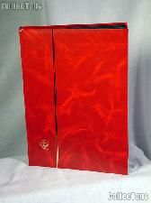 Stamp Stockbook 32-Black Page Stamp Album Lighthouse LS4/16 Red