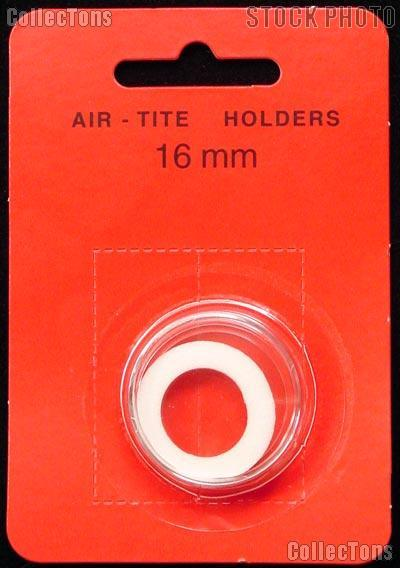 "Air-Tite Coin Capsule ""A"" White Ring Coin Holder for 16mm Coins"