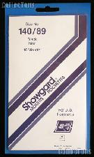 Showgard Pre-Cut Black Stamp Mounts Size 140/89