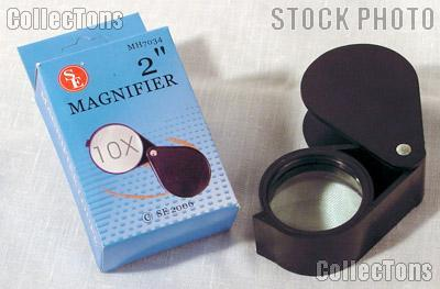 SE Large Foldaway 10X Plastic Magnifier