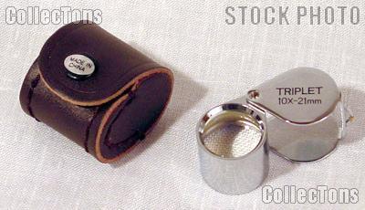 SE 10X Triplet Loupe 21mm Lens Magnifier