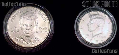 1998-S 2-Coin Kennedy Set with 1998-S Matte Half Dollar