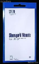 Showgard Pre-Cut Black Stamp Mounts Size 127/70