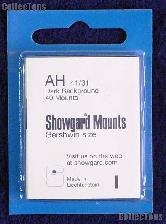 Showgard Pre-Cut Black Stamp Mounts Size AH41/31