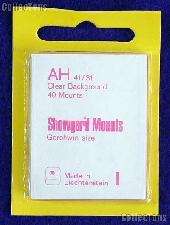 Showgard Pre-Cut Clear Stamp Mounts Size AH41/31