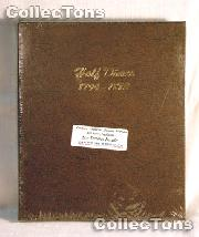 Dansco Half Dimes 1794-1873 Album #6120