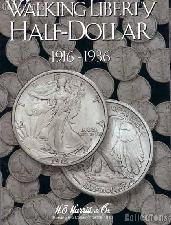 Harris Walking Liberty Halves 1916-36 Coin Folder  2693
