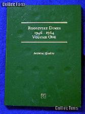 Roosevelt Dimes 1946-1964 Coin Folder LCF21 by Littleton