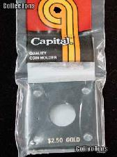 Capital Plastics 2x2 Holder - $2.50 GOLD in Black