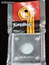Capital Plastics 2x2 Holder - $5 GOLD in Black