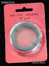 """Air-Tite Coin Capsule """"I"""" Black Ring Coin Holder for 37mm Coins"""