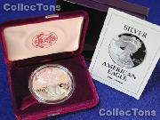 1993-P Proof American Silver Eagle - In Box with COA