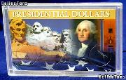 Harris 3x5 Permalock Holder 4 PRESIDENTIAL DOLLARS