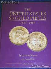 United States $3 Gold Pieces Book - Bowers & Winter