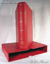 Lighthouse OPTIMA-F Coin Binder and Slipcase in Red